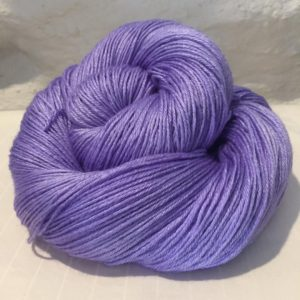 hand dyed bluefaced leicester bfl silk yarn