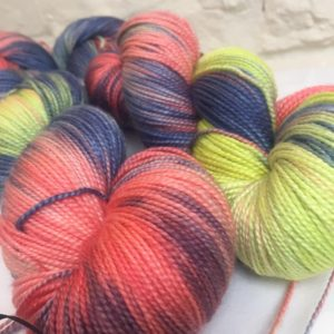 hand dyed silk merino yarn