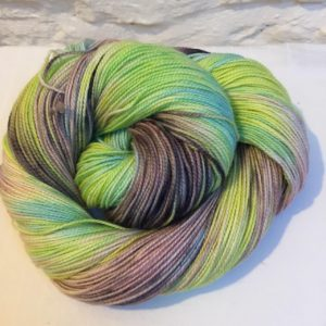 Hand-dyed merino sock yarn