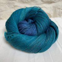 Hand-dyed yak silk merino yarn
