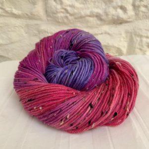 Hand dyed double knit merino nep yarn