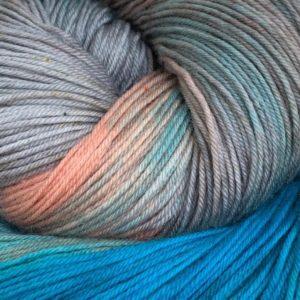 Hand dyed merino sock yarn