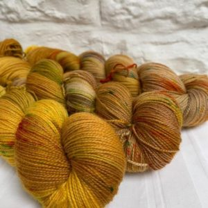 Hand dyed bluefaced leicester sock yarn