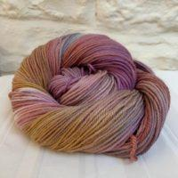 Hand dyed double knit DK merino yarn