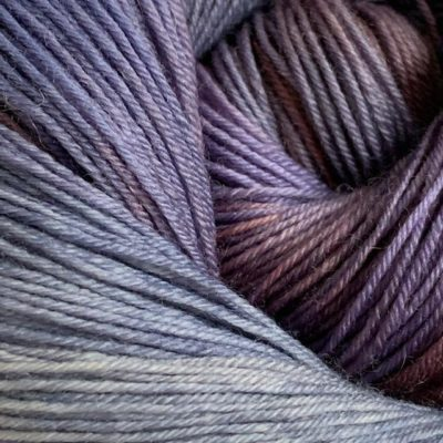 Hand-dyed bluefaced leicester sock yarn