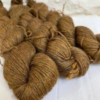 Hand dyed yak silk yarn