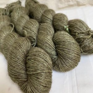 Hand dyed yak silk yarn