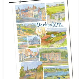 Derbyshire Tea Towel