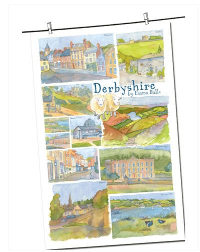 Derbyshire Tea Towel