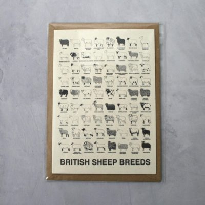 Sheep Breeds - A5 Greetings Card