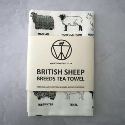 Sheep Breeds Tea Towel