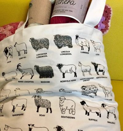 Sheep Breeds Tote Bag