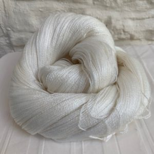 Undyed Laceweight Yarn - Tencel / Merino