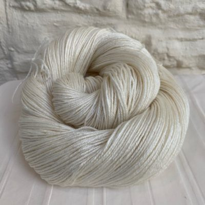 Undyed BFL Silk 4-ply Yarn