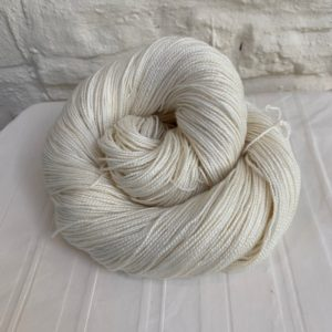 Undyed Merino/Silk 4-ply high twist yarn