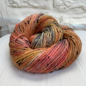 Hand dyed merino nep double knit yarn