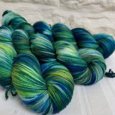 Hand-Dyed Merino Sock Yarn