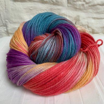 Hand dyed merino double knit (DK) yarn