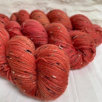 Hand dyed merino nep sock yarn