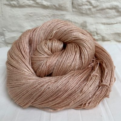 Hand dyed bluefaced leicester silk 4-ply yarn