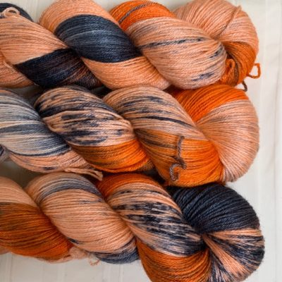 Hand dyed bluefaced leicester silk yarn