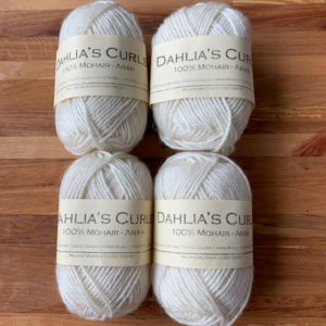 Mohair Aran Yarn from Dahlia's Curls