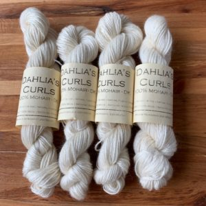 Mohair Double Knit Yarn from Dahlia's Curls