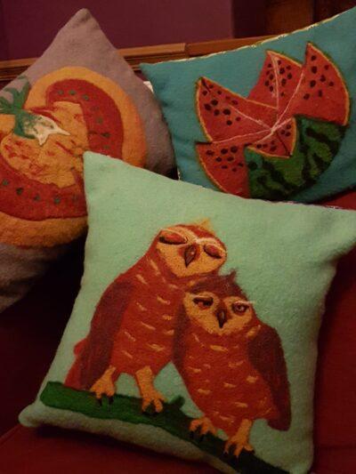Needlefelting - Cushion Covers