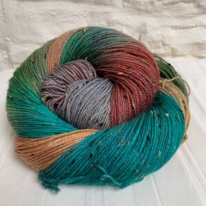 Hand dyed bluefaced leicester nep yarn
