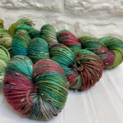 Hand dyed merino nep double knit yarn