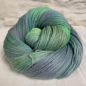 Hand dyed alpaca cashmere silk yarn