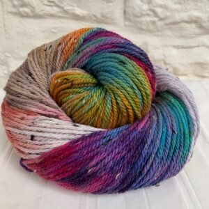Hand dyed merino nep aran yarn