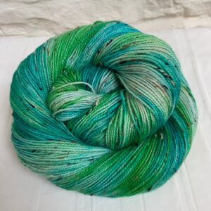 Hand dyed bluefaced leicester nep sock yarn