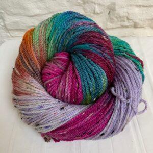 Hand dyed merino aran nep yarn
