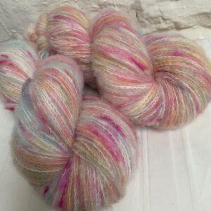 Hand dyed alpaca merino cotton yarn