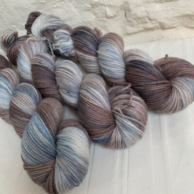 Hand dyed merino double knit yarn