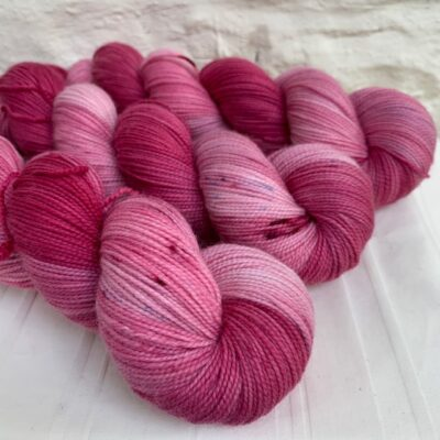 Hand dyed merino high twist sock yarn
