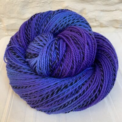 Hand dyed merino 4-ply zebra yarn