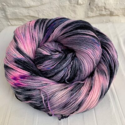 Hand dyed bluefaced leicester high twist sock yarn