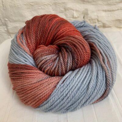 Hand dyed merino aran yarn