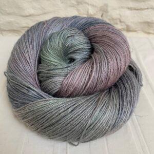 Hand dyed alpaca silk linen yarn