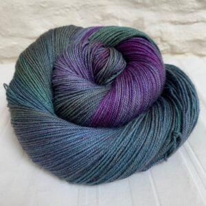 Hand dyed yak silk merino yarn