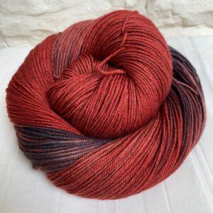 Hand dyed yak merino silk 4-ply yarn