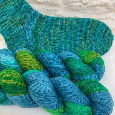 Hand dyed sock yarn