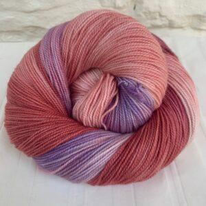 Merino Cashmere Nylon hand dyed sock yarn