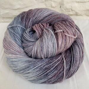 Hand dyed merino cotton 4-ply yarn