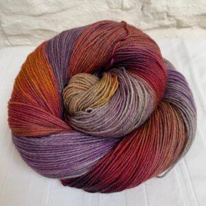 Hand dyed merino yak sock yarn