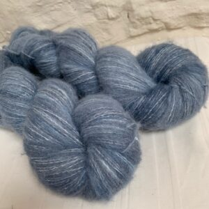 Hand dyed alpaca merino cotton fluff yarn