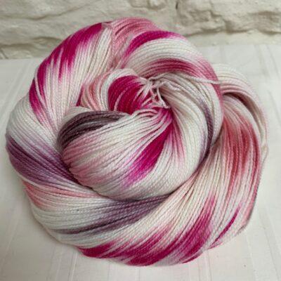 Hand dyed merino high twist sock yarn